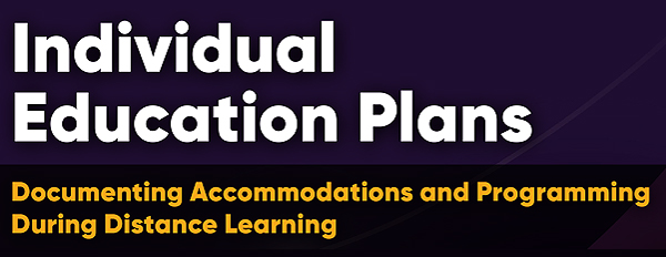 Inclusive Student Services - Individual Education Plan