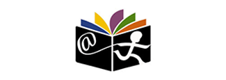 digital children's library logo book