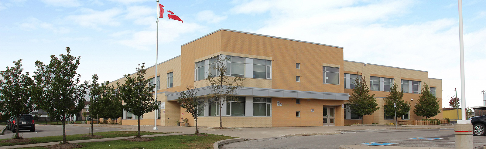 Photo of exterior of school