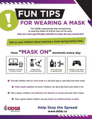 Poster:  Fun Tips for wearing a mask