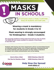 Poster:  Masks in Schools
