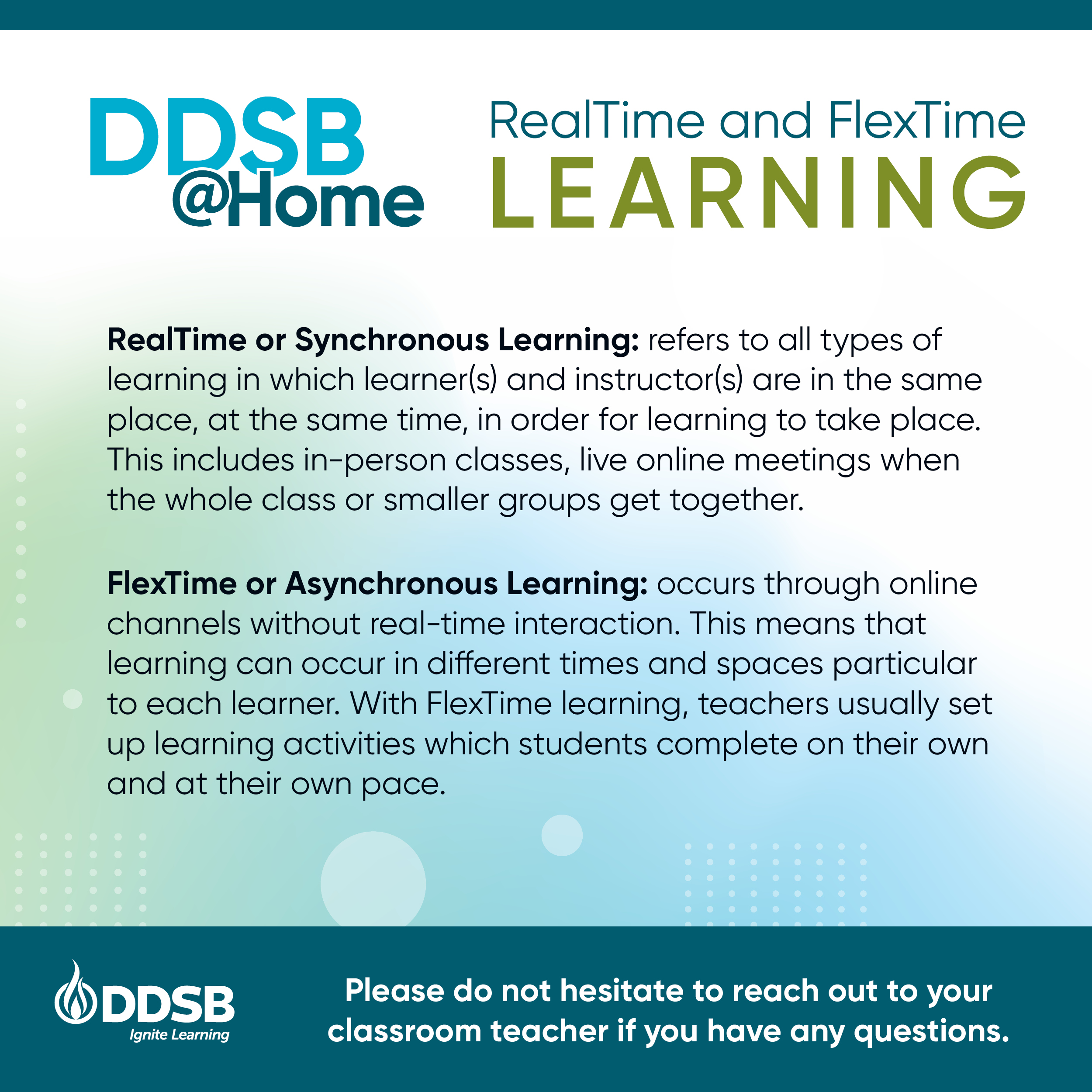 DDSB@Home Elementary - Realtime and FlexTime Learning